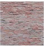 Wandverblender Naturstein Quarzit Rot Bunt - 10 cm x 40 cm