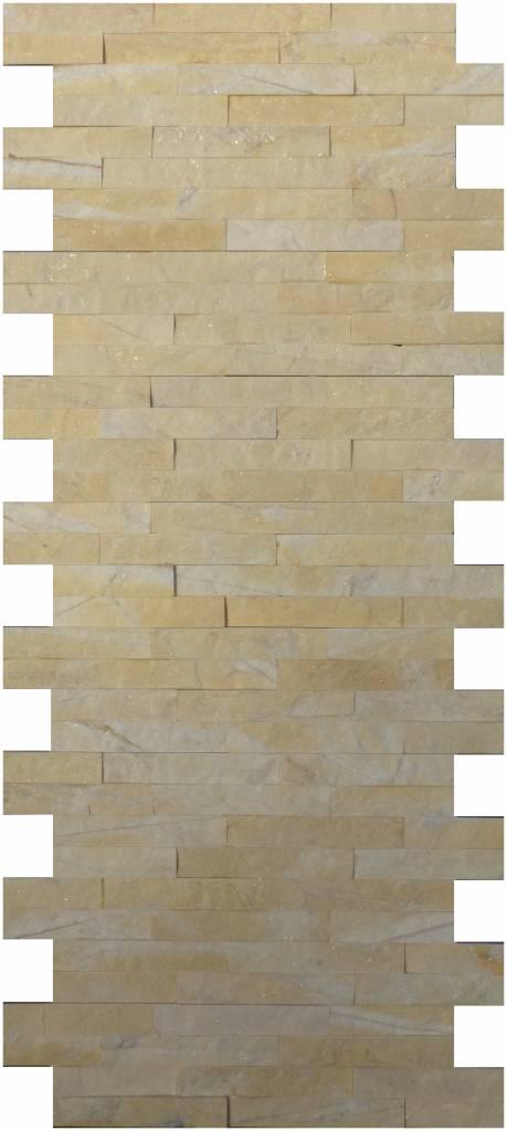 Wandverblender naturstein marmor yellow 10 cm x 40 cm for Wandverblender naturstein