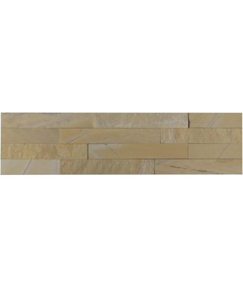 Wandverblender Naturstein Marmor Silk Yellow - 10 cm x 40 cm