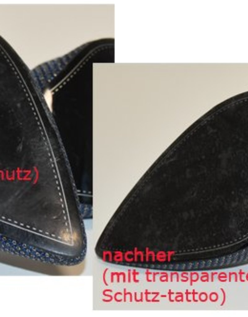 the shoe-tattoo Sohlenschutz transparent