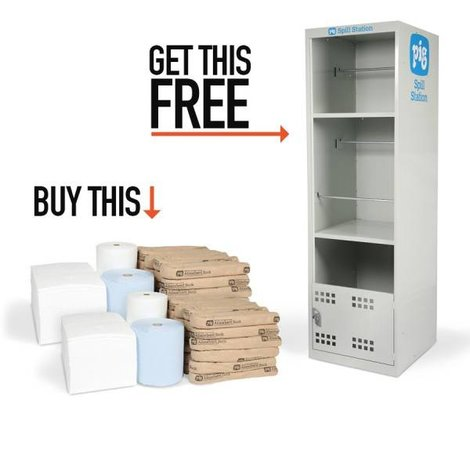 Koop deze absorbents en krijg deze Handy Safety kast t.w.v. € 260,- er gratis bij!!!