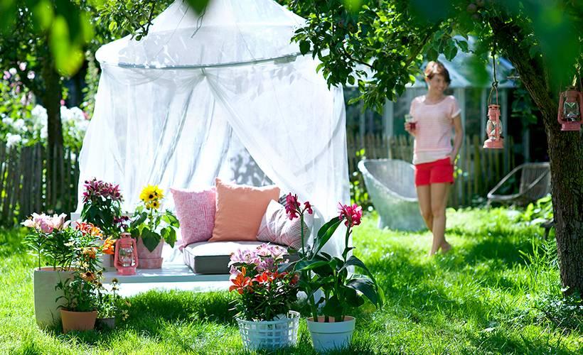 Baignoire et terrasse jardin florastore - Baignoire oiseaux jardin ...