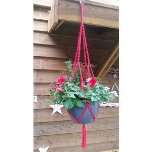 Perkgoed Hanging Basket in Macramé
