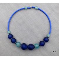 Blauw zeegroene ketting