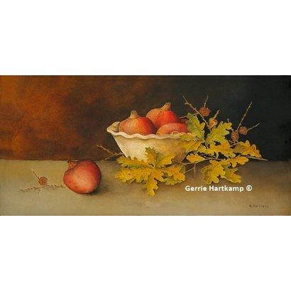 Stilleven eikenblad - Gerrie Hartkamp