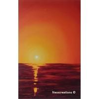 Ondergaande zon - rood
