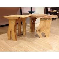 Houten tafel vrije vorm
