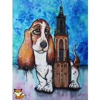 Aquarel van Beagle