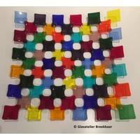 Opengewerkte glazen blokjesschaal