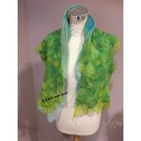 Sjaal van chiffonzijde in groen