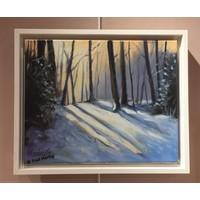 Winterlandschap tegenlicht