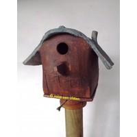 Vogelhuis Ronddak op paal