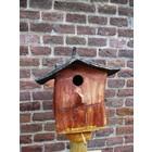 Vogelhuis Puntdak laag op paal