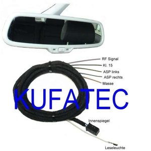 Auto-Dimming Interior Mirror - Harness - Audi A4 B7, A4 B6, A4 8H Cabrio