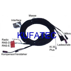 "Bluetooth Handsfree - Harness - Audi A4 B7, A4 B6, A4 8H Cabrio - ""Complete"""