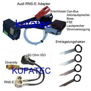 RNS-E Bundle  RNS-E Adapter + antenna adapter + Unlock key