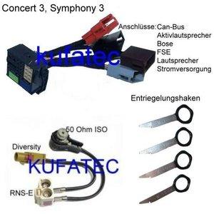 Audi bundle adapter head unit BNS 5.0, Concert 3, Symphony 3