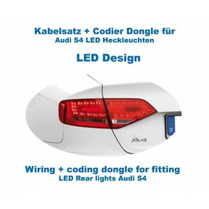 Wiring + coding dongle LED Rear Lights Audi A4/S4