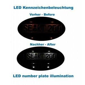 Bundle LED number plate illumination Audi A5 8T, A4 8K, Q5 8R