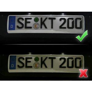 Bundle LED number plate illumination VW Touareg 7P
