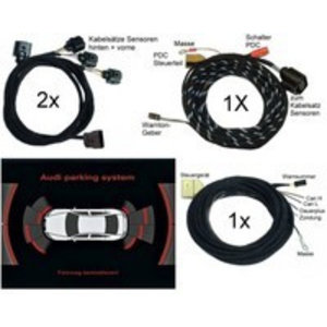 Audi Parking System Front + Rear -Wiring- Audi A8 4E