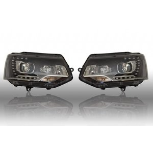 Bi-Xenon Headlights LED DTRL - VW T5 GP