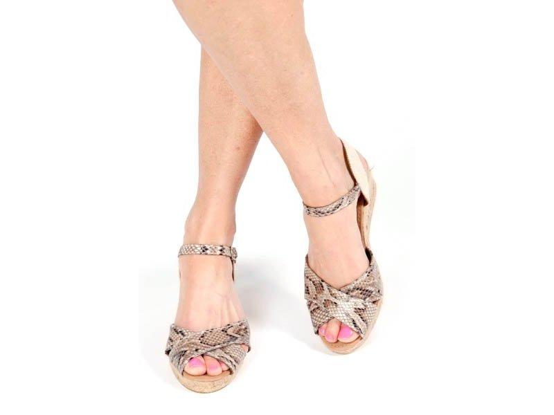 Pearlz Snakeprint sleehak sandaal