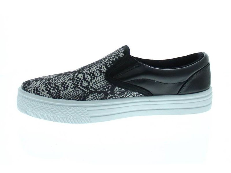 Blink slip on sneakers snakeprint zwart/beige/grijs