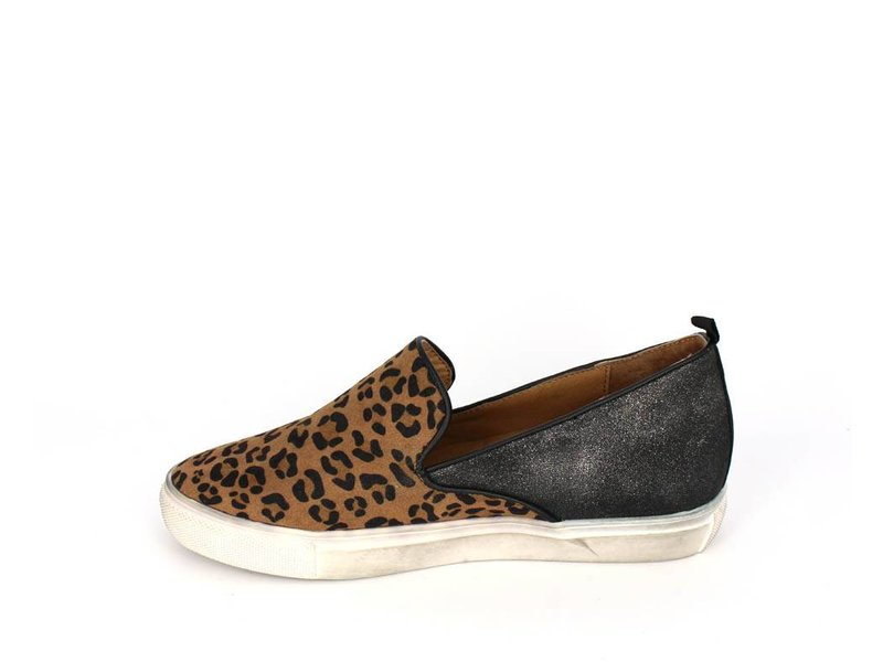 La Strada Hippe slip on sneaker leopard print