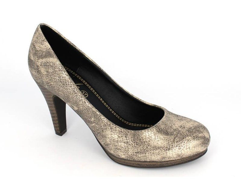 Pearlz pumps snakeprint gold/taupe