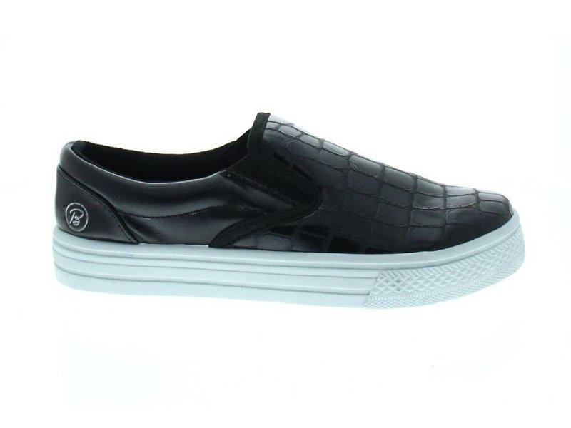 Blink Zwarte slip-on sneakers crocoprint
