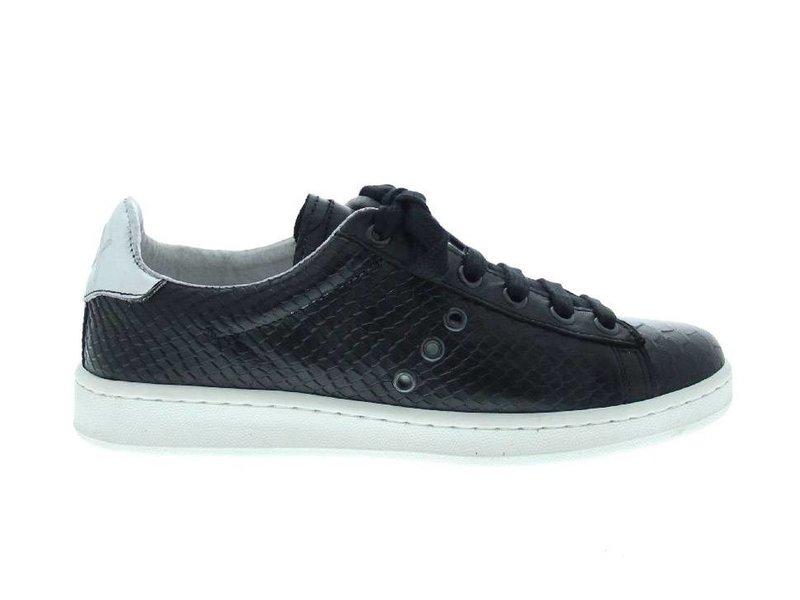 Bronx sneakers leder croco zwart