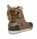 Tamaris stoere sneakers met bontje
