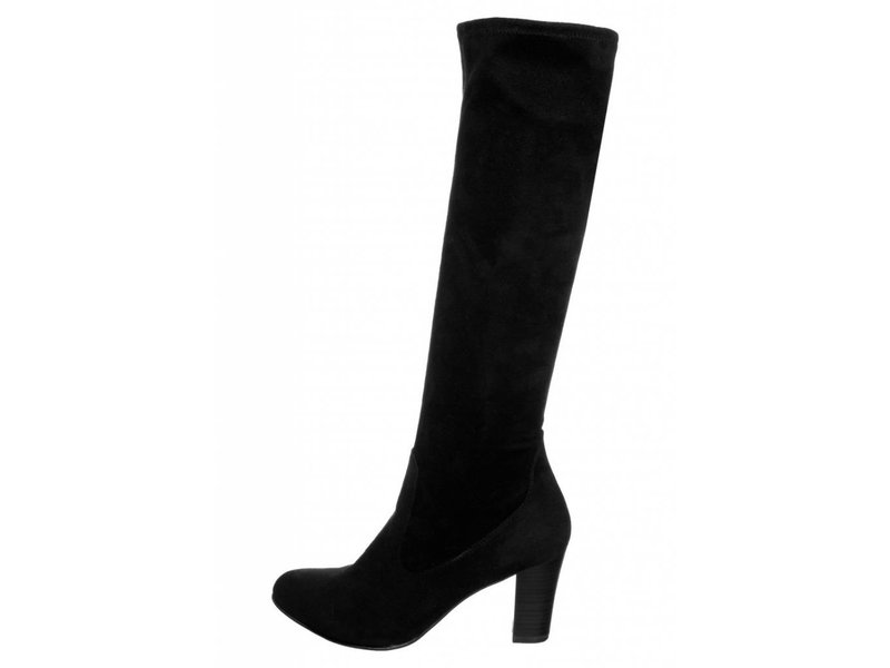 Caprice zwarte laarzen met hak