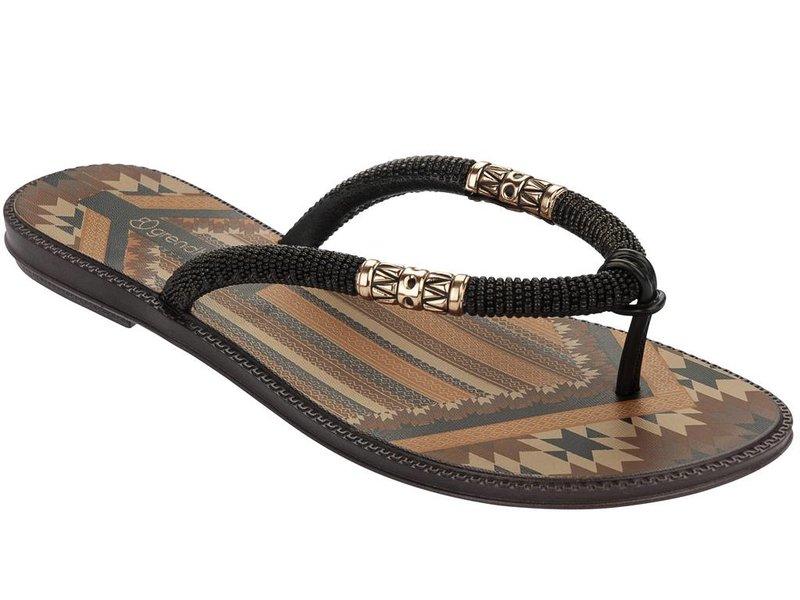 Grendha slippers tribale zwart