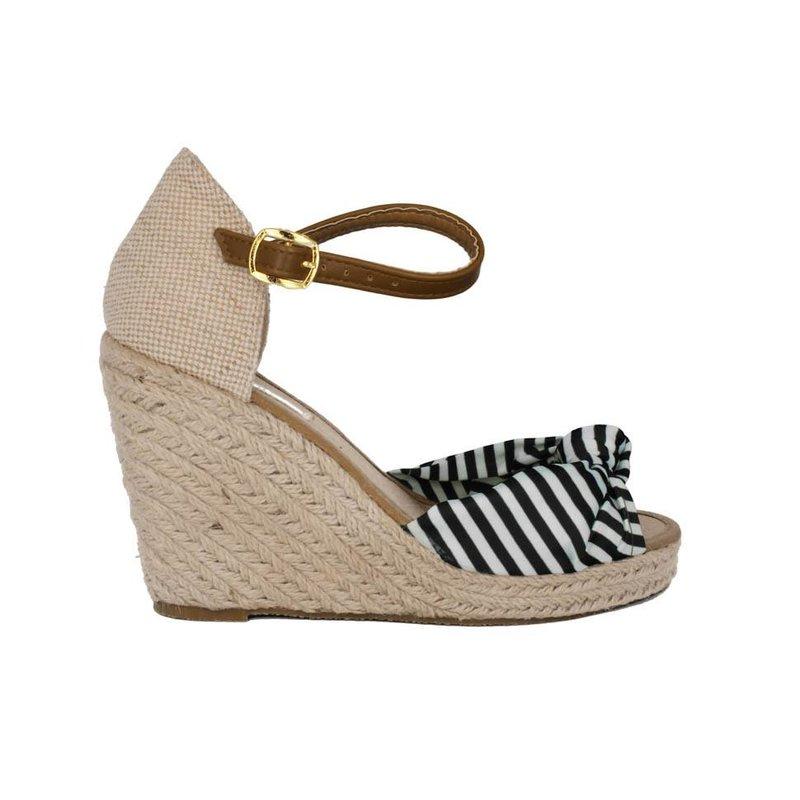 Pearlz zwart wit sandaaltje