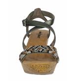 Minnetonka Sleehak sandalen leder pewter