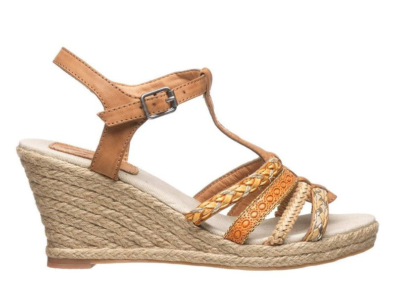 Fritz aus Preußen Ibiza style sandalen camel