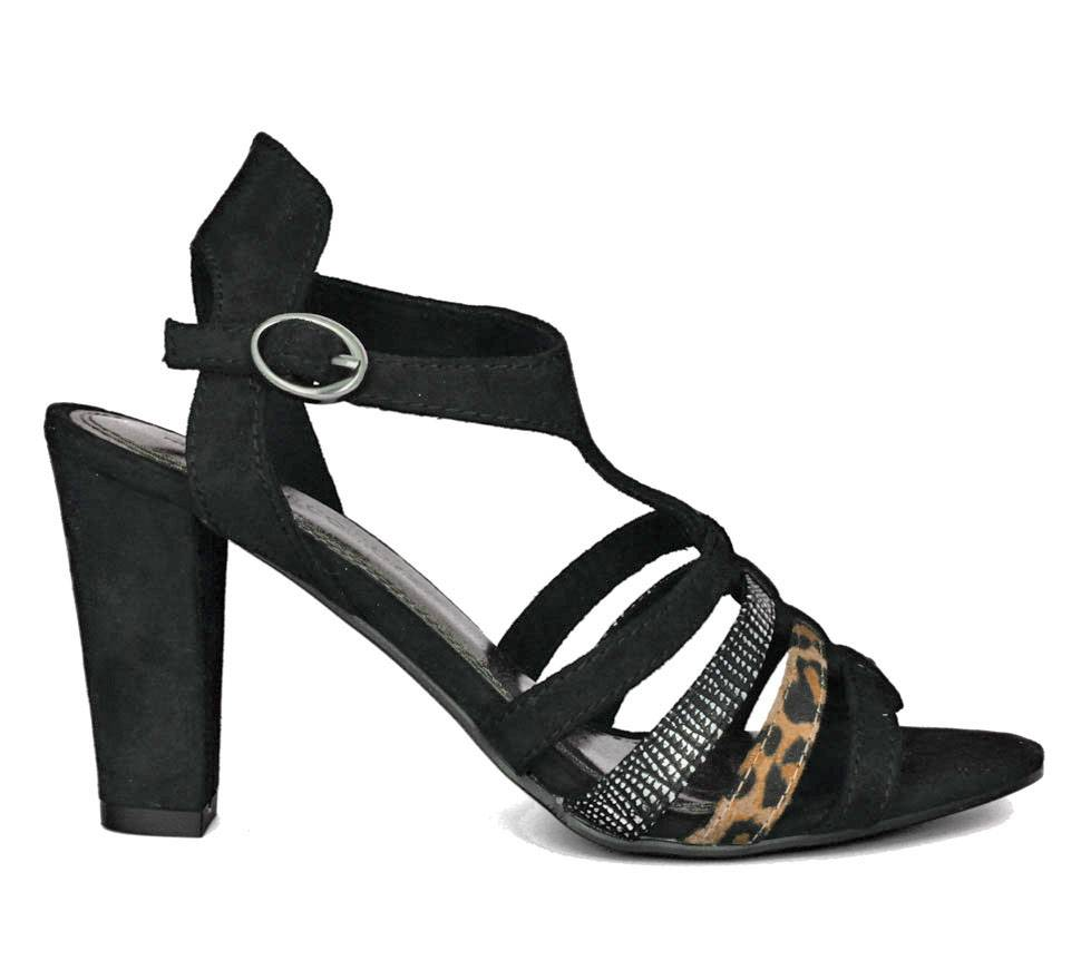 marco tozzi sandalen dames model zwart leopard. Black Bedroom Furniture Sets. Home Design Ideas