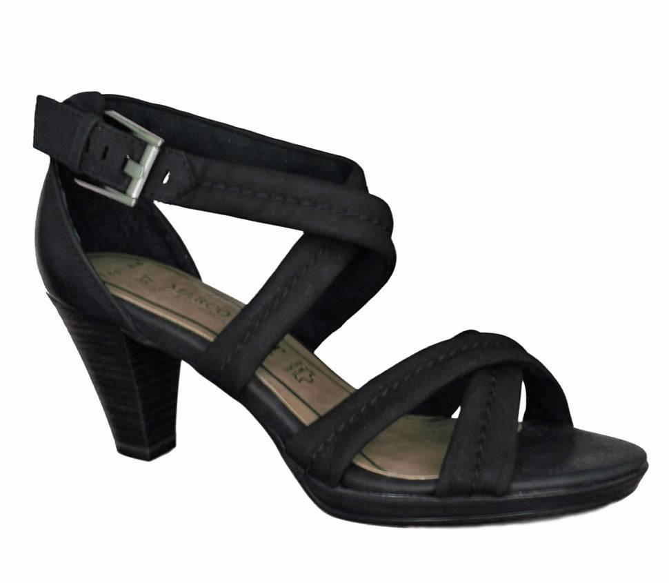 marco tozzi zwarte sandalen dames model. Black Bedroom Furniture Sets. Home Design Ideas