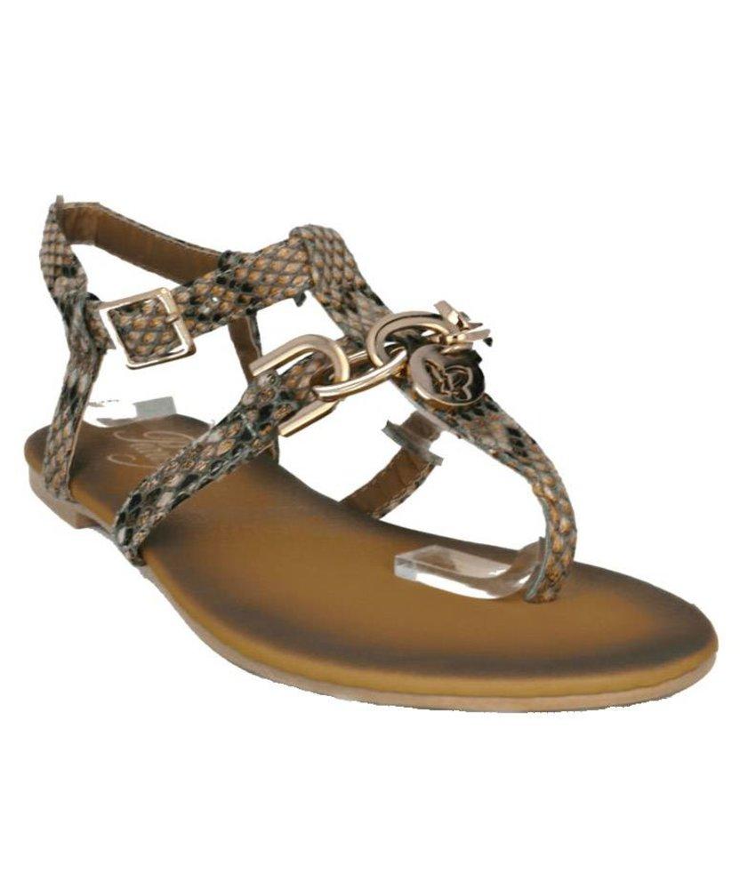 Pearlz snake print sandaal