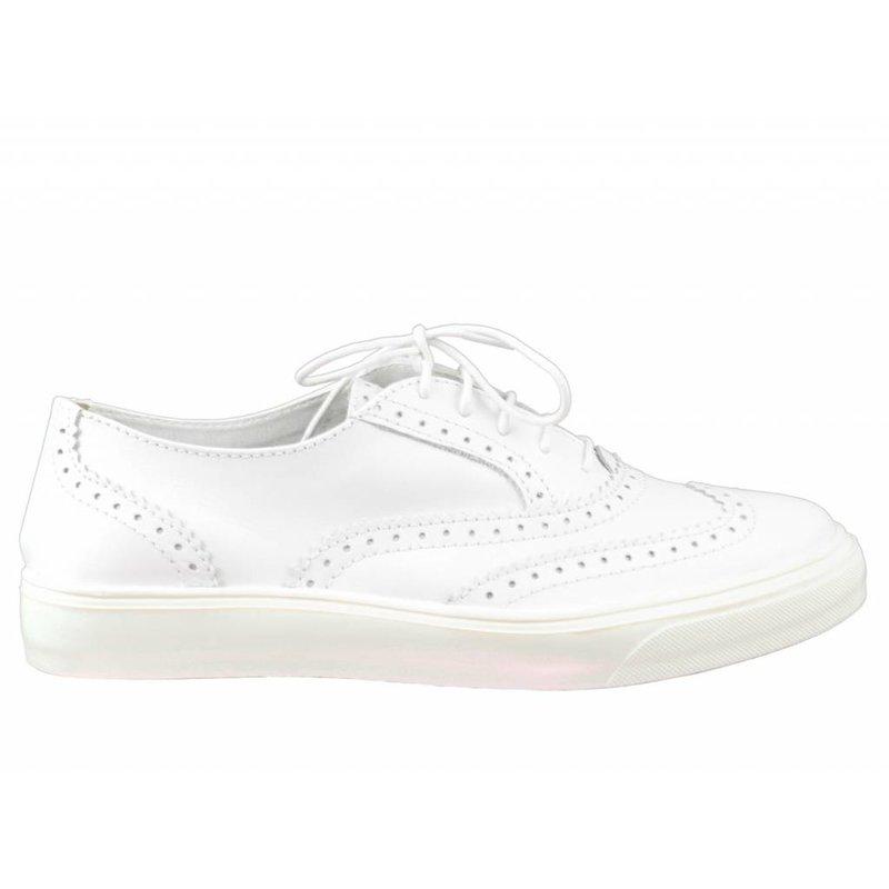 Tamaris sneaker brogues wit