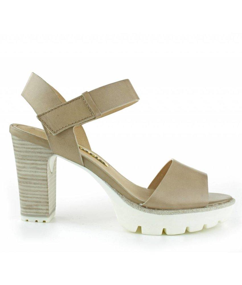 Tamaris sandalen leder nude