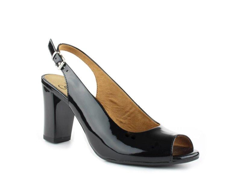 Caprice Peeptoe sandalen lakleder