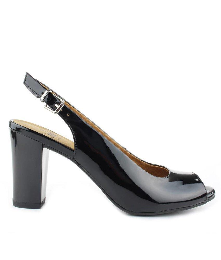Caprice Peeptoe sandalen zwart