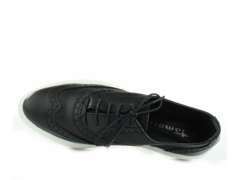 Tamaris Sneaker brogues zwart leder