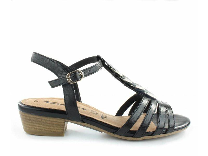 Tamaris Zwarte sandalen leder