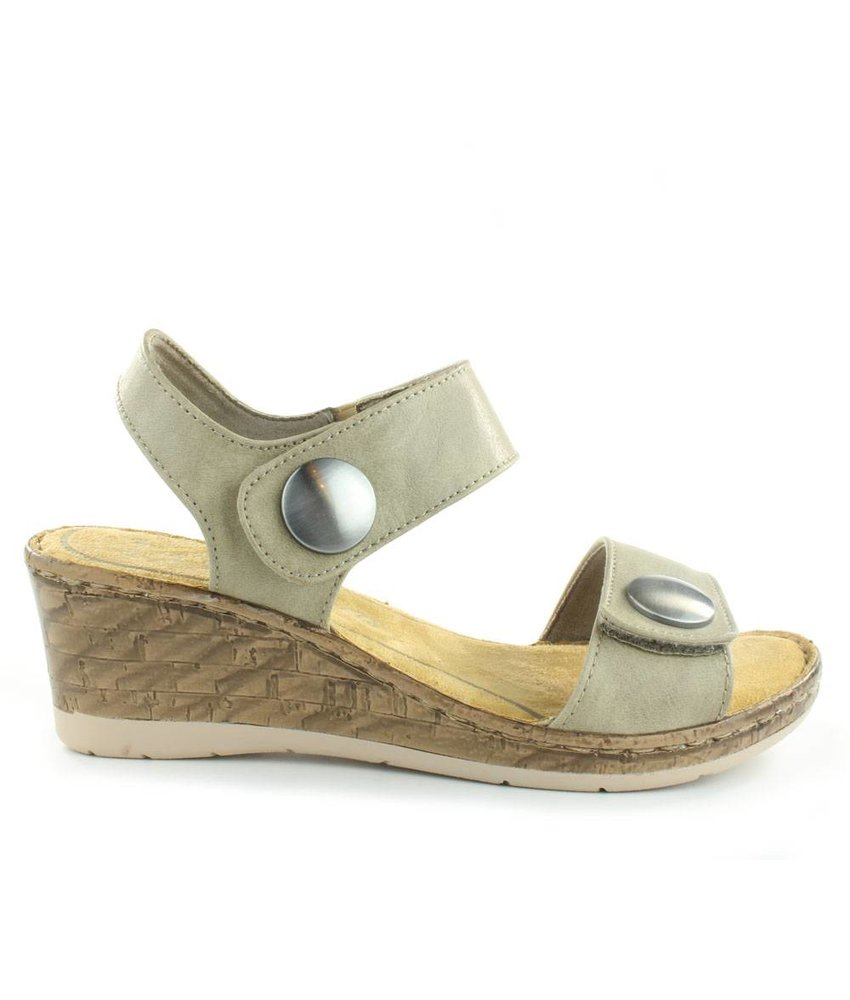 Marco Tozzi Sleehak sandalen taupe antic