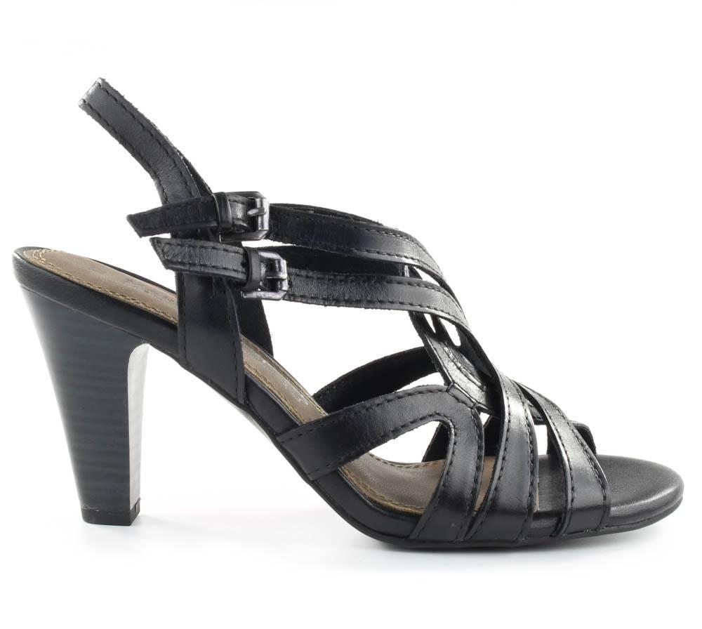 marco tozzi sandalen leder zwart. Black Bedroom Furniture Sets. Home Design Ideas