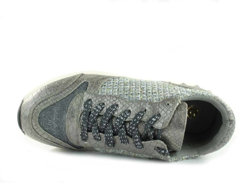 La Strada Sneaker pewter snake